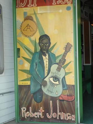 Robert Johnson painting at the Green Parrot Bar in Key West by Flickr user shawnzrossi