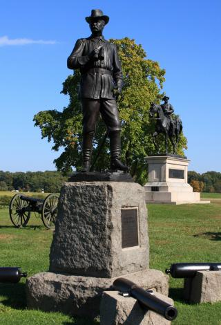 Statue of Union General Buford on McPherson Ridge by Flickr user Alaskan Dude