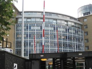 BBC Television Centre circle by Flickr user R/DV/RS