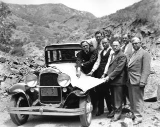 Officials discuss plans for the Ortega Highway, 1930 by Flickr user Orange County Archives