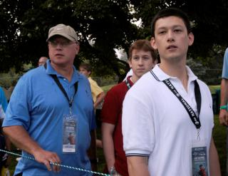 Military Families share golf memories at Tiger Woods tournament 090702 by Flickr user familymwr