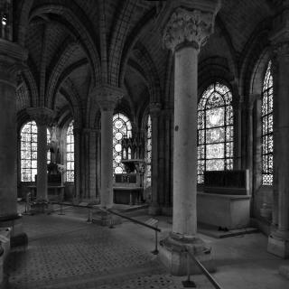 basilique saint-denis, the ambulatory of abbot suger's choir, 1140-1144. by Flickr user seier+seier