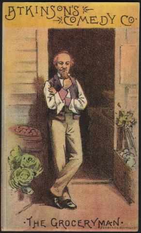 Atkinson's Comedy Co., the grocery man. (front) by Flickr user Boston Public Library