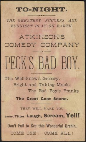 Atkinson's Comedy Co., the grocery man. (back) by Flickr user Boston Public Library