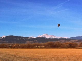 2/366 Balloon and Longs Peak by Flickr user MCA / Mike Allyn