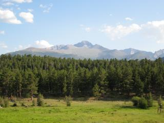 Longs Peak from Upper Beaver Meadow by Flickr user TimWilson