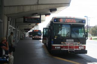 Bus Platform, Kipling Station, Toronto_1927 by Flickr user Bobolink