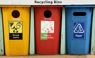 Colorful Recycling Containers for Trash by Flickr user epSos.de