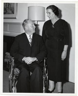 Mayor John F. Collins with Israeli Foreign Minister Golda Meir by Flickr user City of Boston Archives