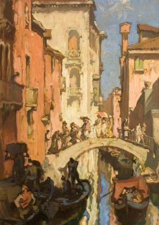 Sir Frank William Brangwyn - A Venice Canal by Flickr user irinaraquel