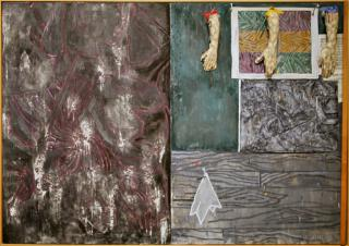 Perilous Night, 1982 encaustic on canvas with objects by Jasper Johns by Flickr user cliff1066™