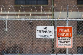 No trespassing - private property by Flickr user SmartSignBrooklyn