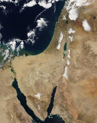 Snow in the Middle East by Flickr user NASA Goddard Photo and Video