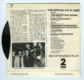 The Special A.K.A. Live! - (back) by Flickr user Brett Jordan