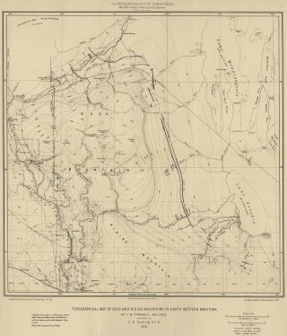 Topographic Map of Duck and Riding Mountains in North Western Manitoba (1888) by Flickr user Manitoba Historical Maps